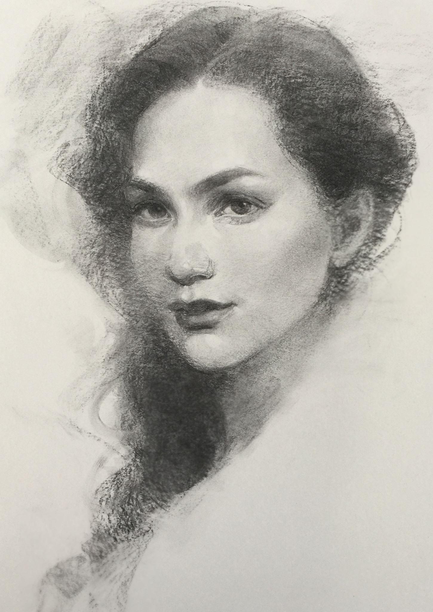Портретная живопись: графический портрет