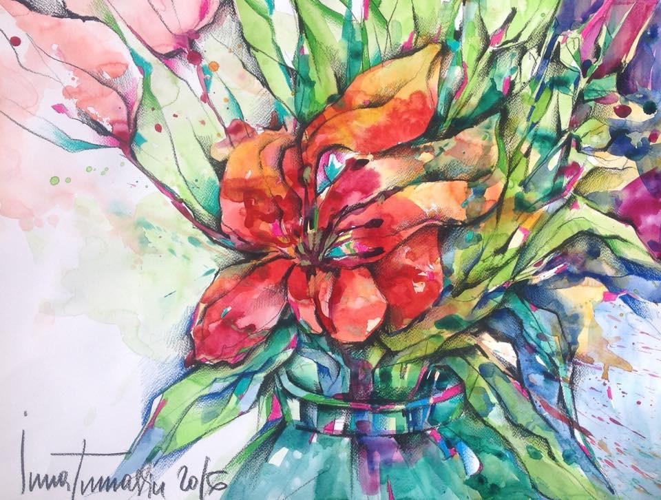 Акварельные эксперименты. Цветочные композиции