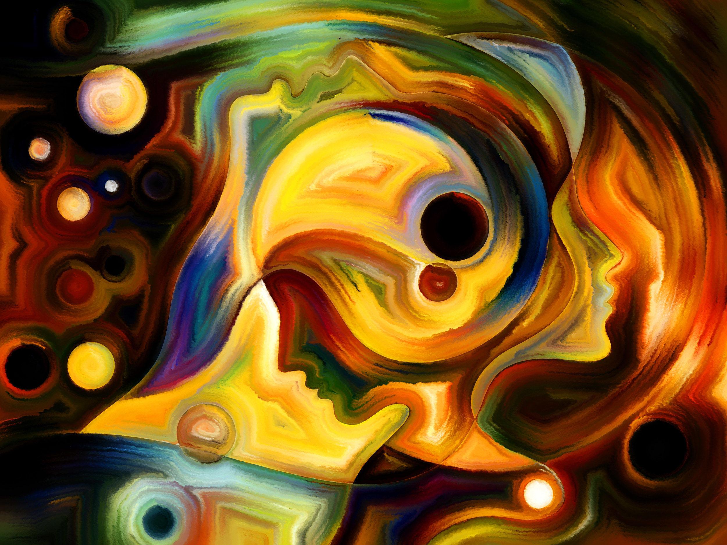Философия и практика в абстрактной живописи: холст и масло
