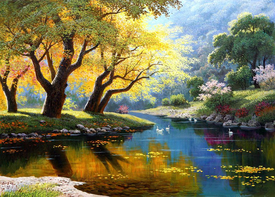 Сочинение пейзажа