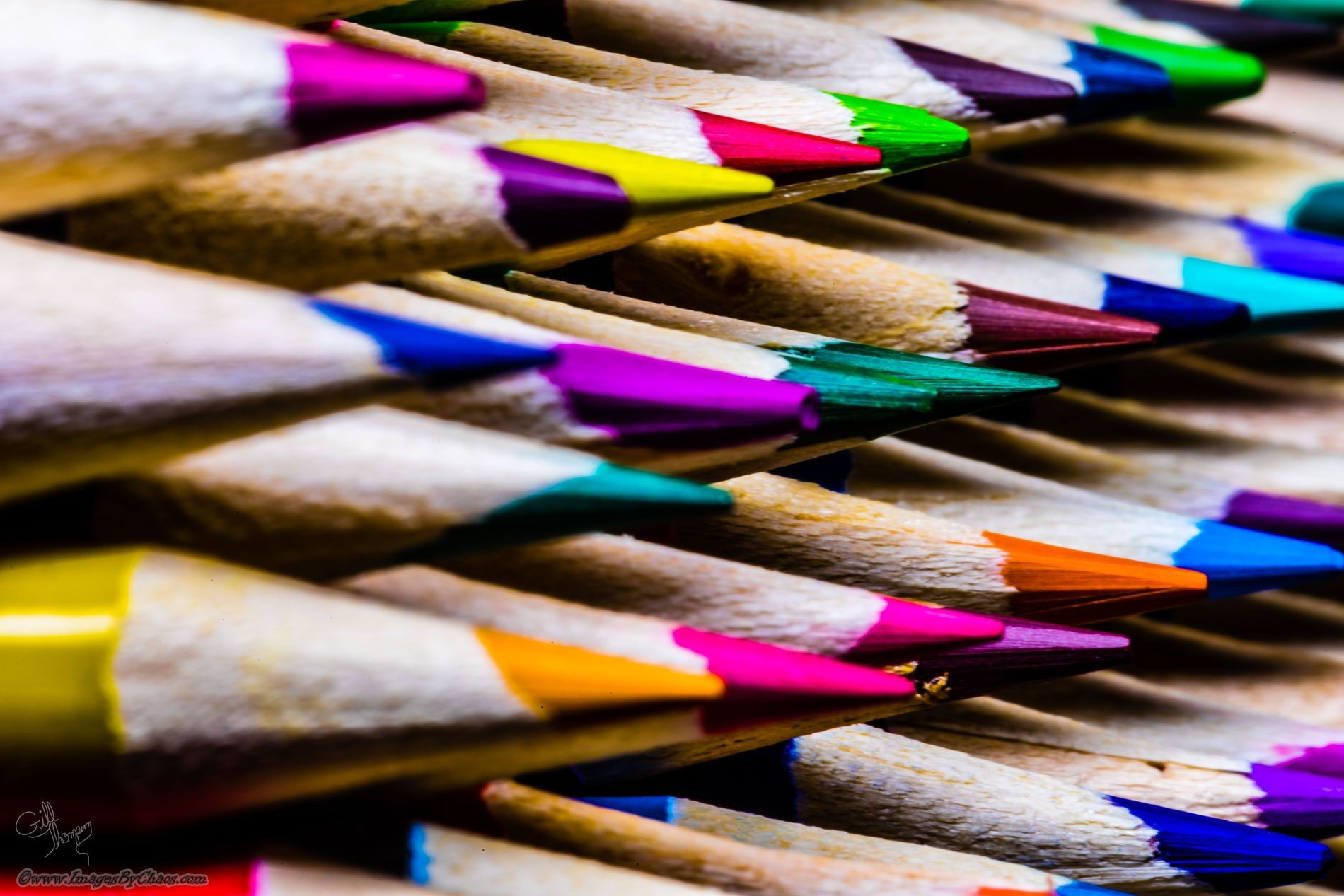 Creative leave-carpet with colored pencils
