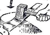 Рис. 30. Выравнивание полотна и зубьев пилы: А - закрепить пилу в тисках с помощью деревянных планок; Б - выправить полотно киянкой; В - приспособление для выравнивания зубьев; Г - проверка зубьев при помощи линейки