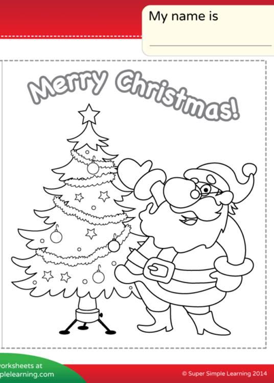 Мы Желаем Вам Счастливого Рождественского Рабочего Листа-Сделайте Открытку Chirstmas-Супер Просто