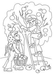 Скачать Осень картинки для раскрашивания 3