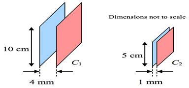 Картинки по запросу parallel plate capacitance  problem solving