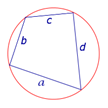 Площадь вписанного четырехугольника формула Брахмагупты