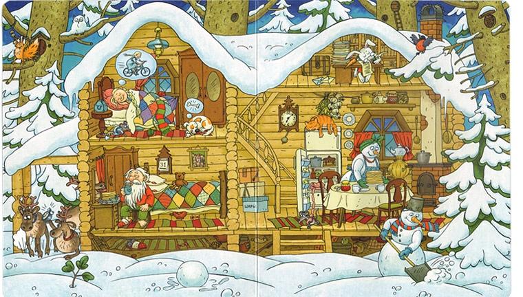 1 Иллюстрация Ольги Громовой из книги Ольги Дворняковой «Один день из жизни Деда Мороза»