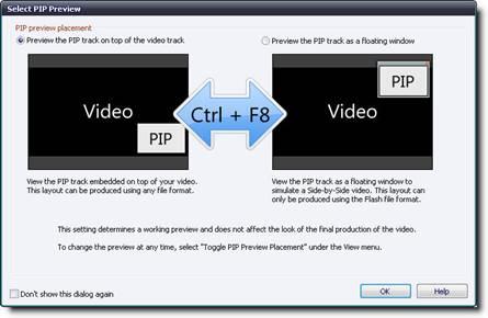 Выбор размещения предварительного просмотра картинки-в-картинке