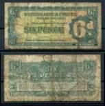 БРИТАНСКИЕ ВС (BAF) 1948г. P# M17 / 6 ПЕНСОВ