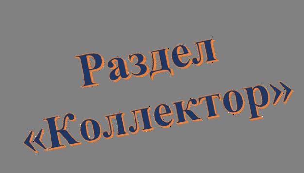 Раздел «Коллектор»