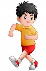 Забавный мультяшный мальчик, торчащий языком | Премиум векторы