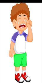 Cute little boy cartoon crying Royalty Free Vector Image