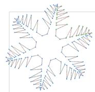 Многоугольники. Рисование снежинки. Зубчики на лучах.