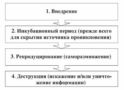 Этапы жизненного цикла компьютерного вируса