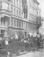 Невский проспект после очередного налета вражеской авиации. Сентябрь 1941 г.