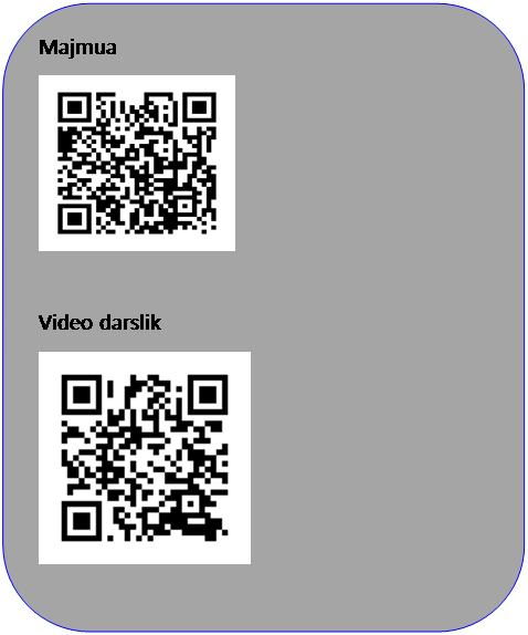 Скругленный прямоугольник: Majmua    Video darslik