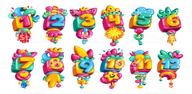 Картинки по запросу numbers cartoon