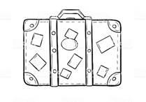 Картинки по запросу чемоданы рисунок карандашом