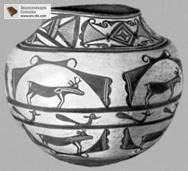 Керамическая расписная ваза. Индейцы суньи (юго-запад США). Музей этнографии. Берлин-Далем.
