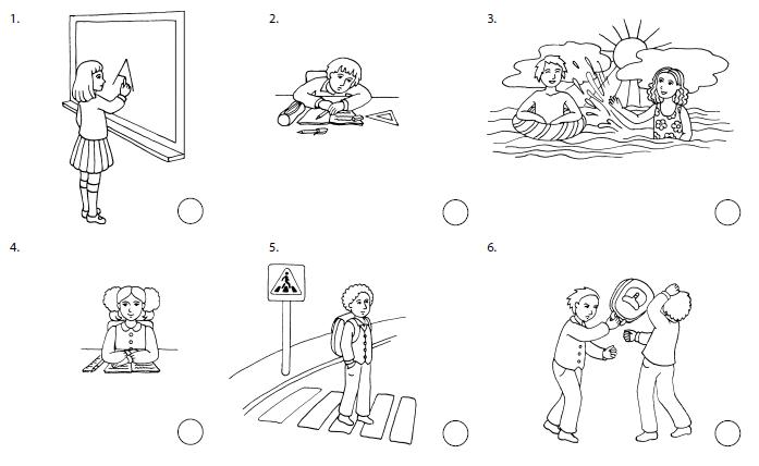 Правила поведения в картинках карандашом