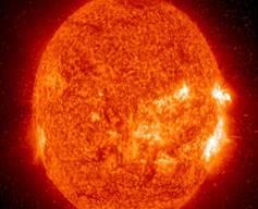 Изображение солнца, полученное Обсерваторией солнечной динамики НАСА в апреле 2016 года.