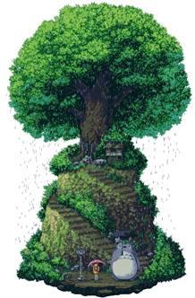 Pixel-art - Мой сосед Тоторо | Пикабу