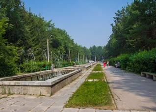 Парк Коротеева,фонтаны, Искитим