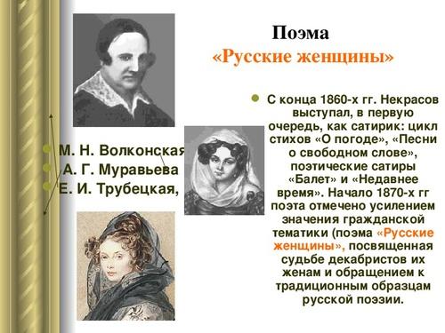 Русские женщины некрасов характеристика княгини