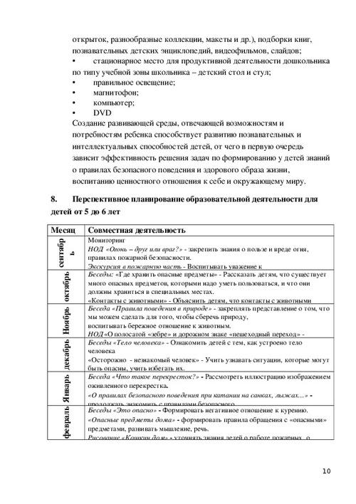 Программа по ОБЖ для детей 5-7 лет