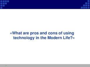 pros and cons of using technology