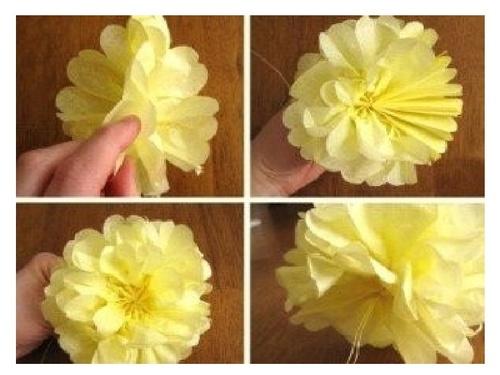 Красивые цветы своими руками из салфеток