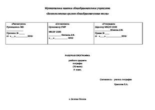 Алтайского края география программу рабочую