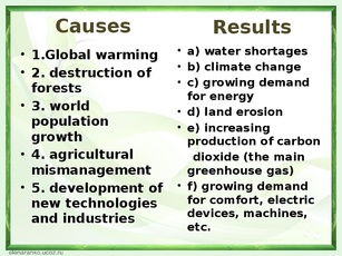 the causes and outcomes of the