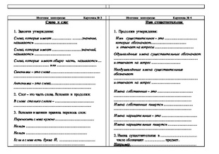 карточки по русскому языку 2 класс скачать бесплатно