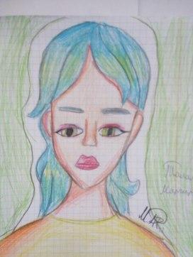 Талалаева Маргарита- ученица  3 Б класса создаёт  свою  творческую  работу .