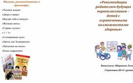 Буклет для родителей «Рекомендации по организации адаптационного периода ребенка с ОВЗ