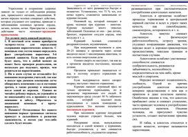 """""""Профилактика вредных привычек"""" буклет"""