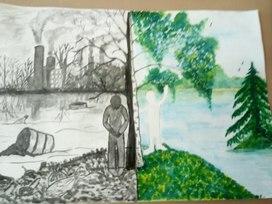 """Творческая работа ученика   3 Б класса -Тимохина Арсения  на  тему:,,Я люблю  рисовать."""""""