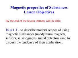 PHY_10_57_V2_P_Magnetic properties of a substance
