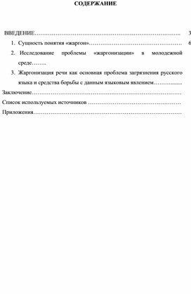 """Исследовательская работа """" Проблема жаргонизации речи  в современном русском языке"""""""