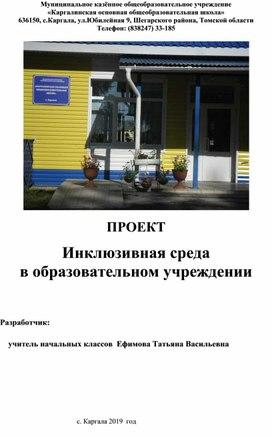 """Педагогический проект """"Инклюзивное образование в образовательной организации"""""""