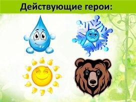 """Презентация по развитию речи """"Медведь и Солнце. Пересказ сказки с опорой на графический план и опорные слова"""" (3 класс)"""
