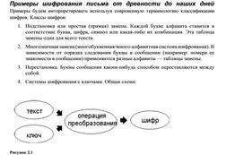 Примеры шифрования письма от древности до наших дней.docx