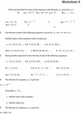 C1 Sequences and Series - Questions
