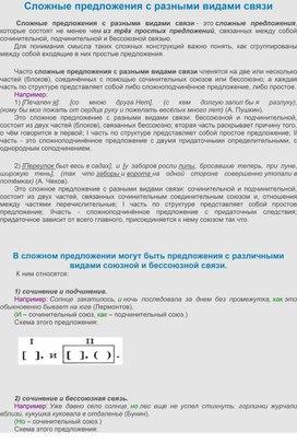 СлСинтаксисожные предложения с разными видами связи