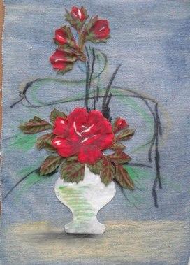 """Чудесная ваза с розами"""