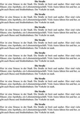 "Технологическая карта урока немецкого  языка в рамках темы ""Die Straßen der Stadt. Wie sind sie?"", 5 класс"