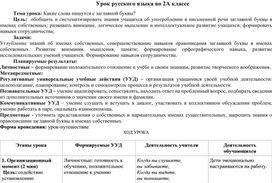 """Методическая разработка урока по русскому языку на тему """"Какие слова пишутся с заглавной буквы?"""""""