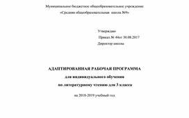 """Адаптированная программа по  русскому языку 3 класс """"Школа России"""""""