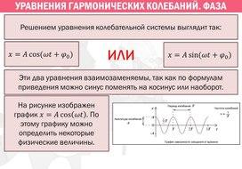 Уравнение гармонических колебаний, фаза